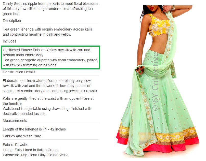 Budget Lehengas from 6YCollective