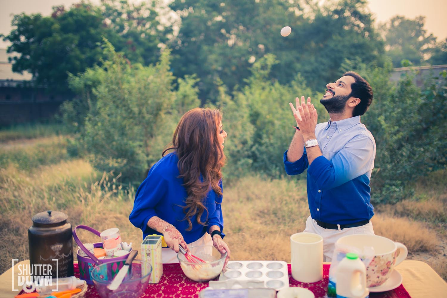 baking themed prewedding photoshoot