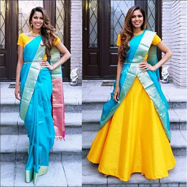 How To Reuse Your Old Saree As A Lehenga Dupatta Frugal2fab